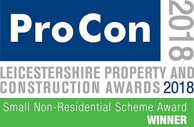 Small Non-Residential Scheme of the Year Award 2018 Winner logo